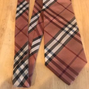 Men's Burberry London Tie Plaid